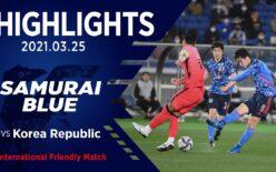 2021年 国際親善試合 日本 VS 韓国 3対0 日産スタジアム(日本)
